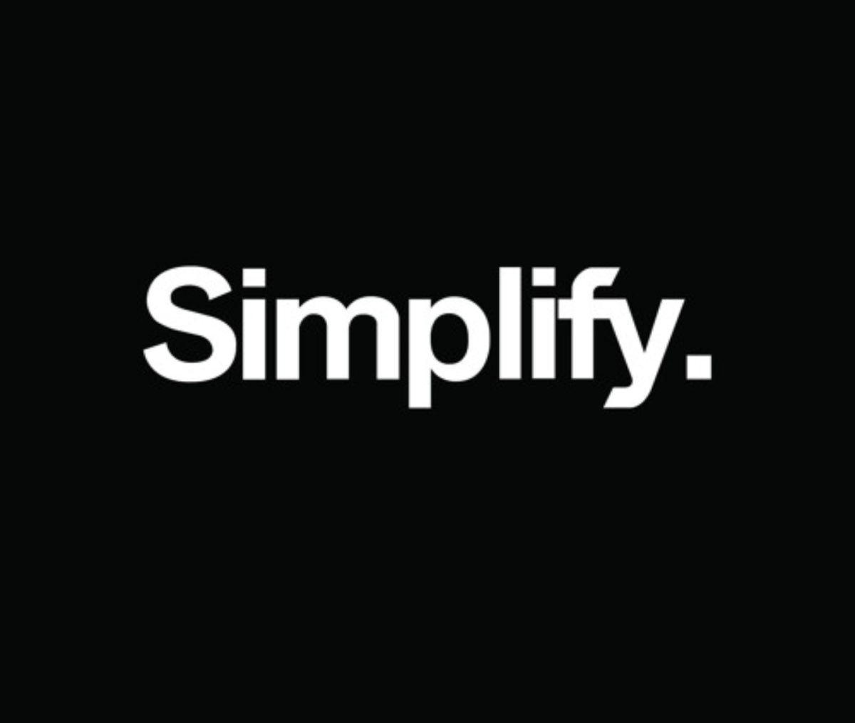 In 2018, we simplify